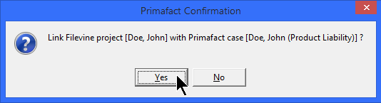 0- Linking Filevine from Primafact -3