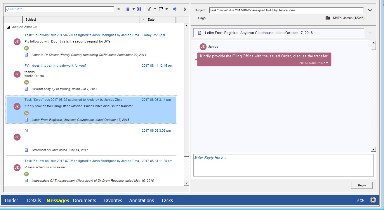 Primafact - Team Workflow View